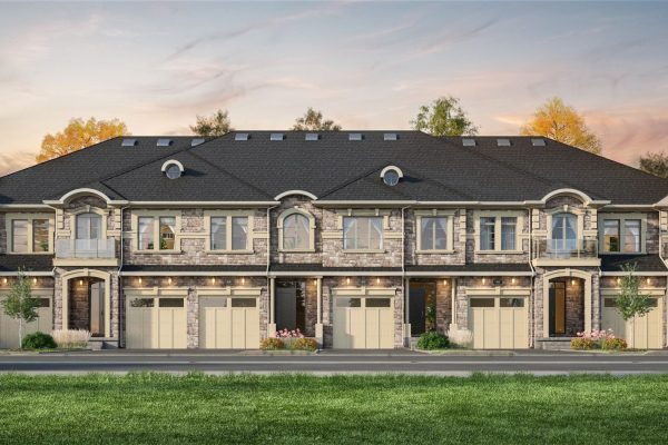 Freehold_Townhouses_Guelph_Dev_6 Unit_Dusk_Final